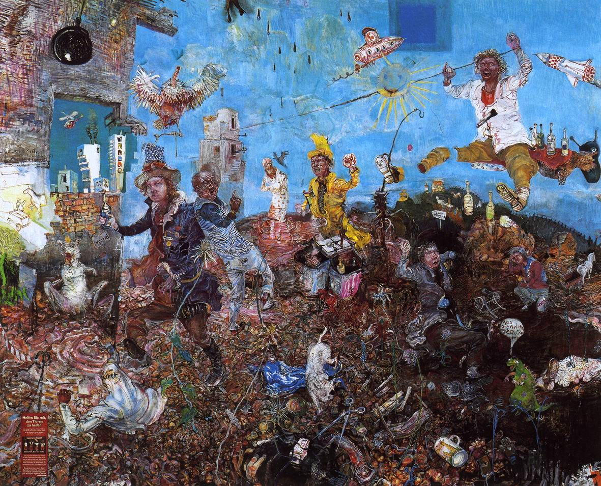 Painting - Müll Menschen Müll, 2004