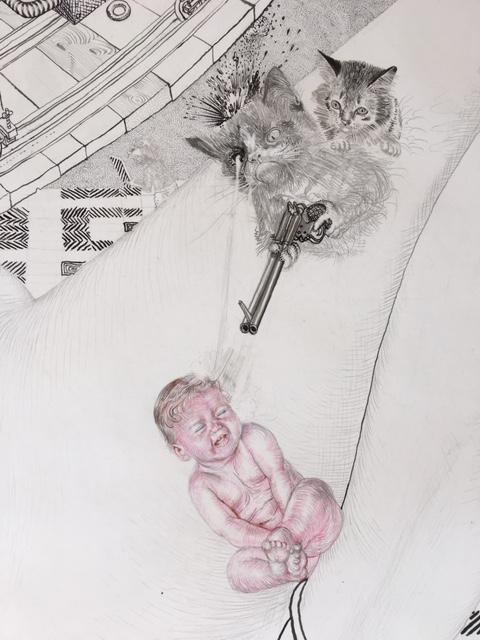 Drawing - Jugend, 2015, Detail 6