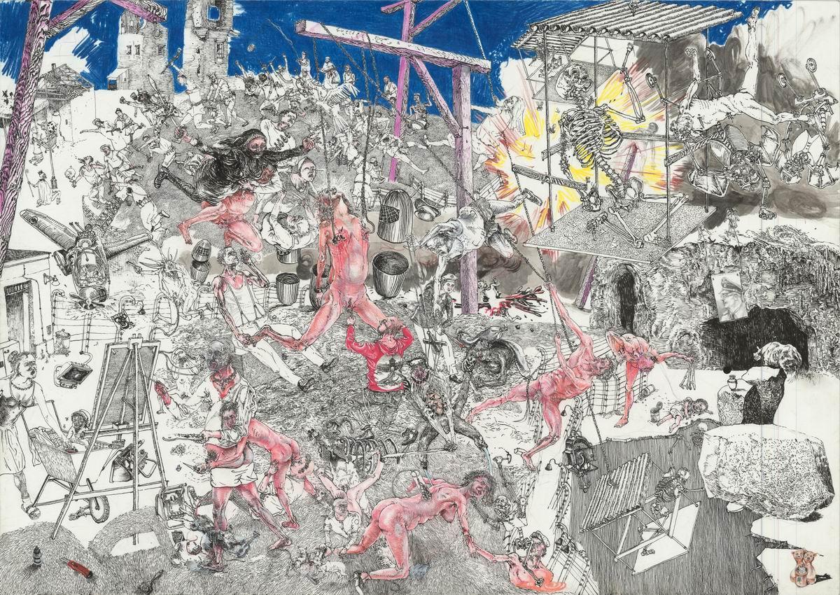 Drawinging - Untitled (Schmerzensbild / scene of pain), 2008