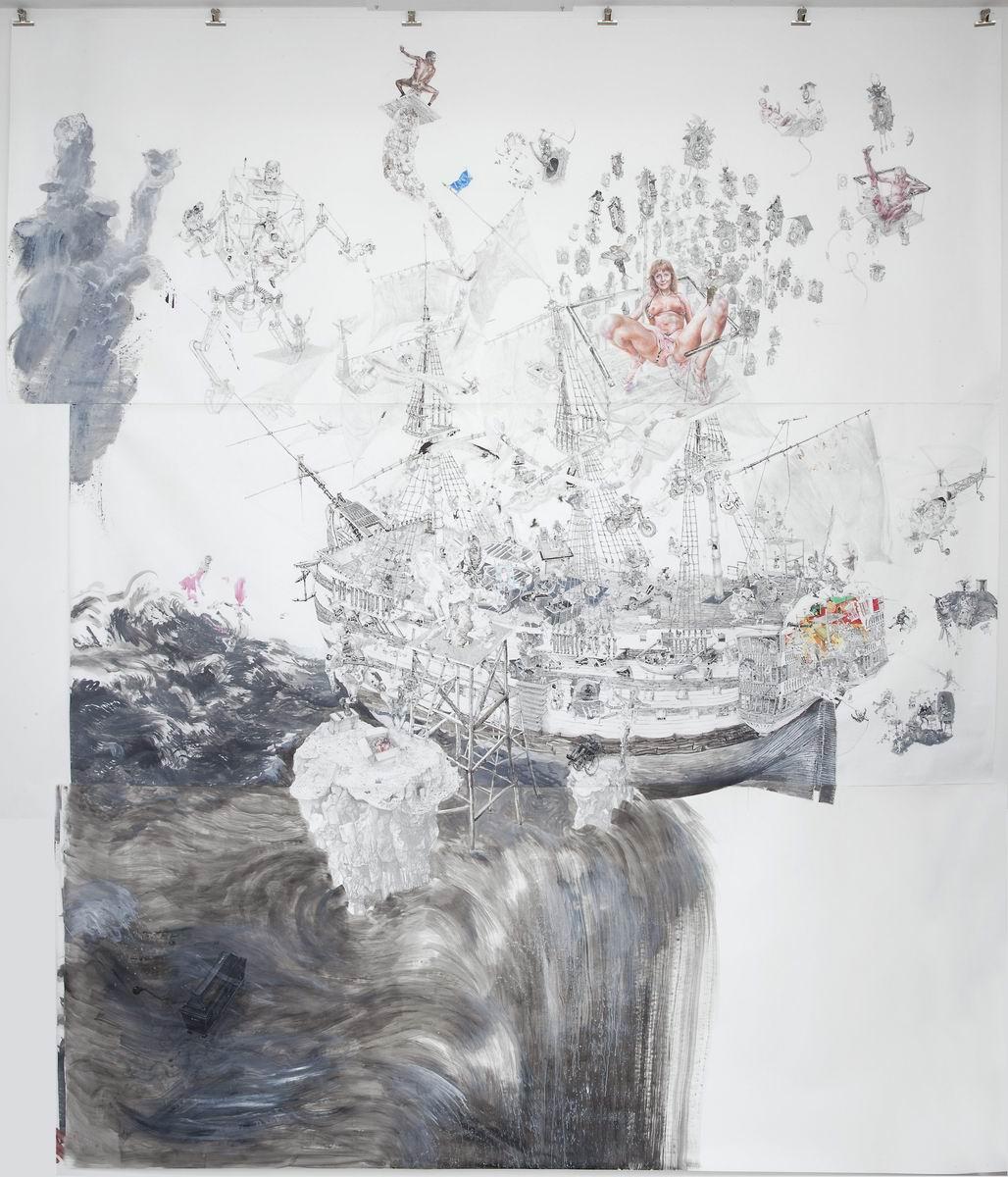Drawinging - Das Narrenschiff im Terrorstrom, 2008/2009