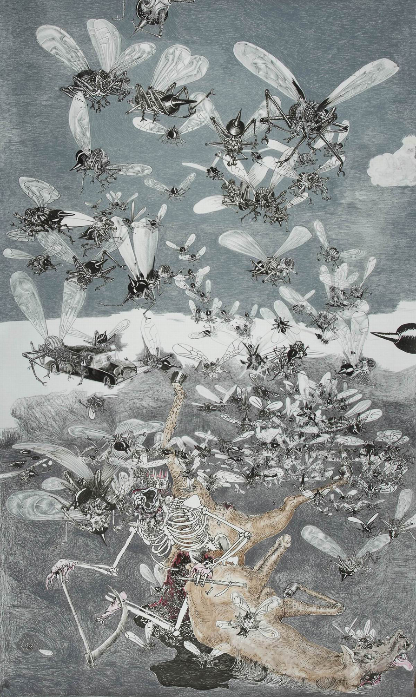 Drawinging - König Tod zu Pferde V