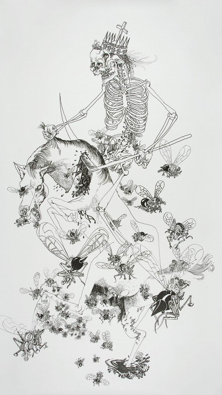 Drawinging - König Tod zu Pferde, 2010