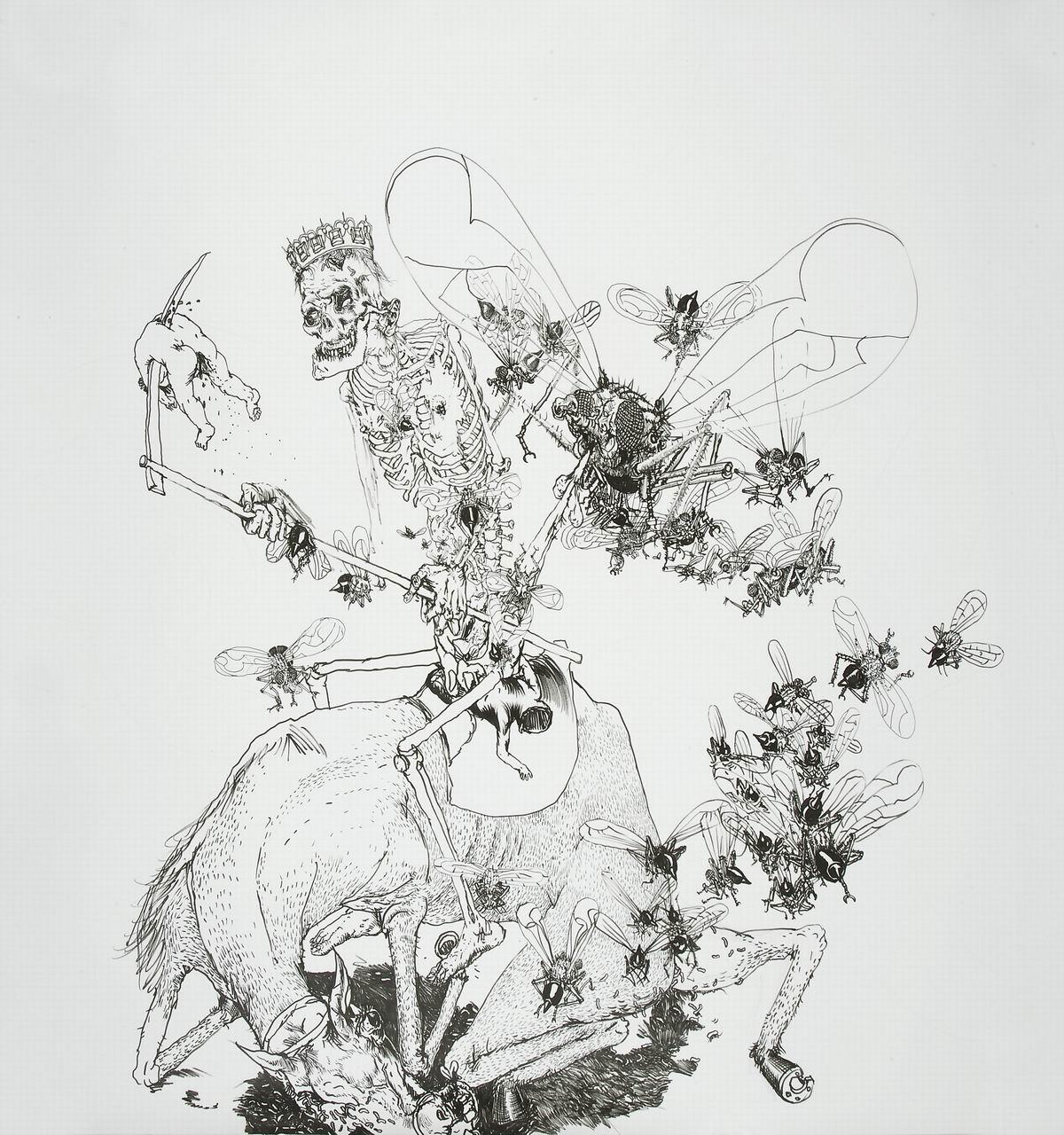 Drawinging - König Tod zu Pferde IV, 2010