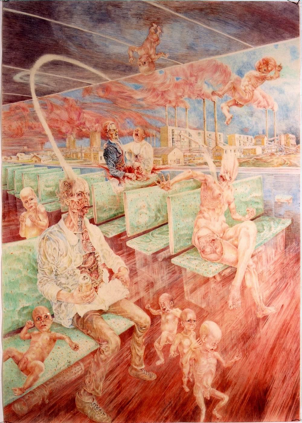Painting - S-Bahn-Szene, 2002
