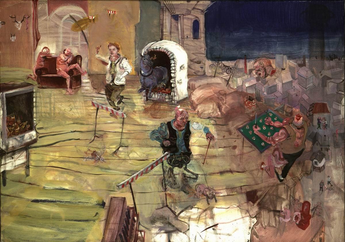 Painting - Die Profanisierung der Hürde, 2005