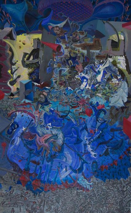 Painting - Dr. Weishaupt muss dem Patienten Goliath Teile des Gehirns entfernen. Der Demokrat kann danach nie mehr wählen, 2011