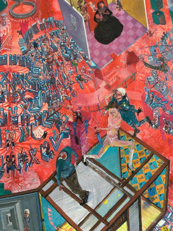Painting - Die Blutmühle, 2011-2015 - Detail 10