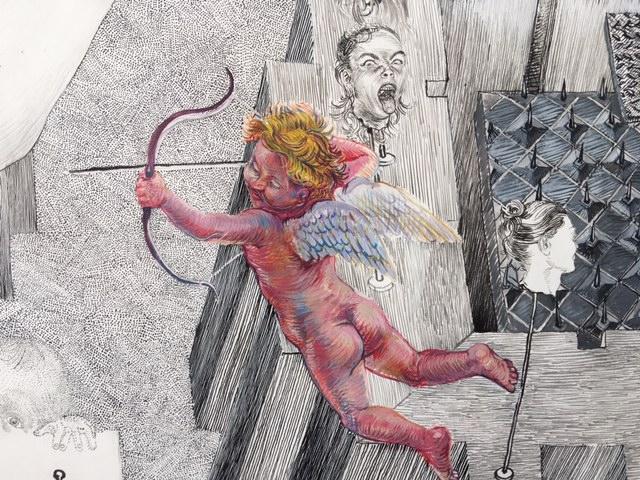 Drawinging - Die andere Wange, 2015, Detail 1