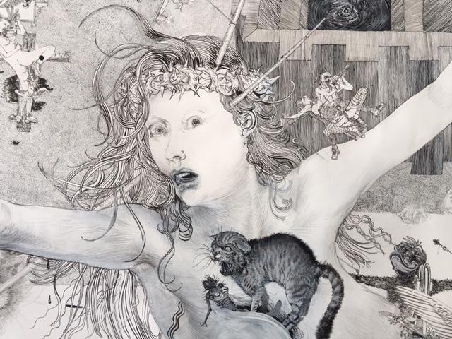 Drawinging - Die andere Wange, 2015, Detail 2