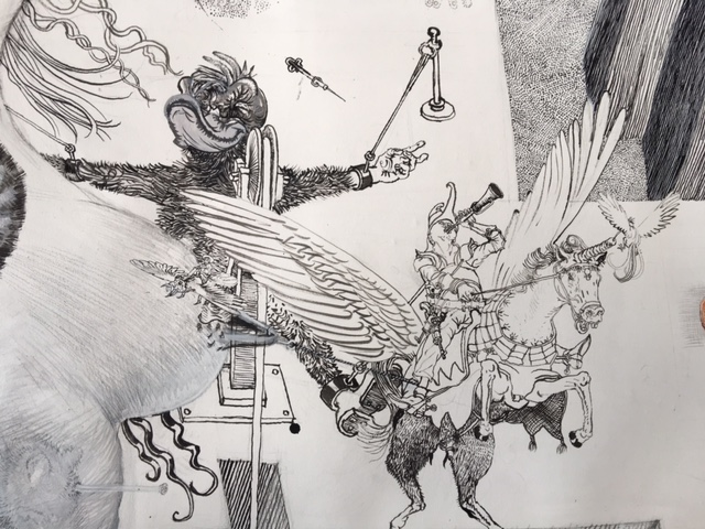 Drawinging - Die andere Wange, 2015, Detail 3