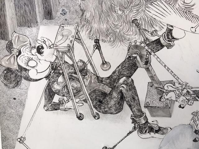 Drawinging - Die andere Wange, 2015, Detail 4