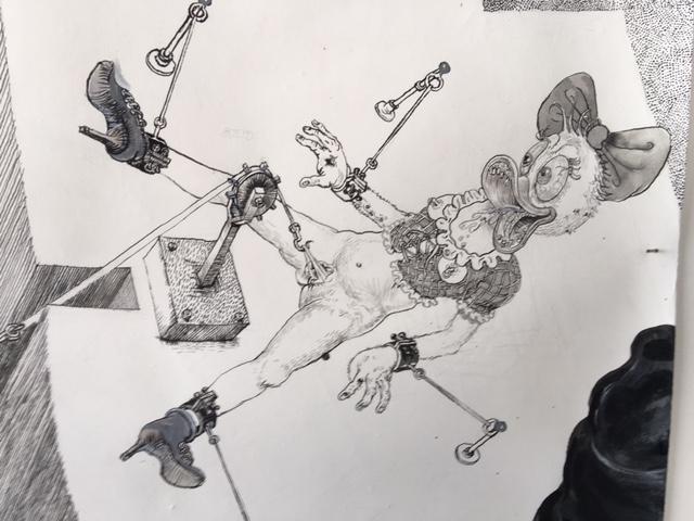 Drawinging - Die andere Wange, 2015, Detail 5