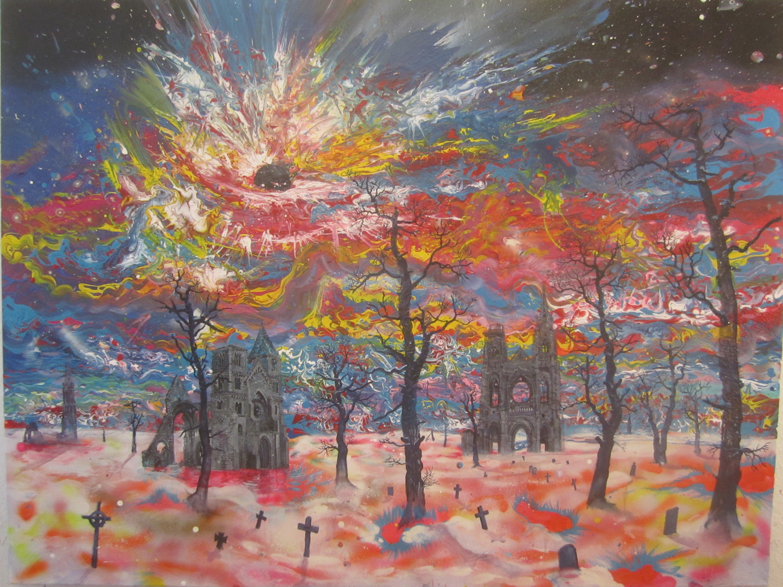 Painting - Frieden II ( der Sahnetortentodesstern), 2016