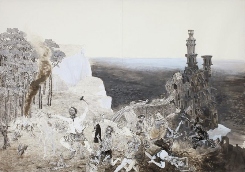 Peter Feiler, 'Tiere holen auf', 2014